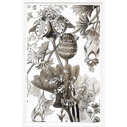William Stafford, Sepia Japanese Flowers 1