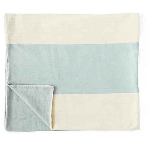 Mamoosh Baby Blanket, Natural/Blue