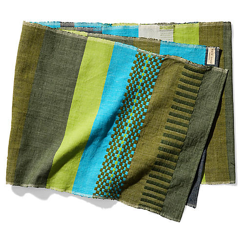 Admas Table Runner, Olive/Multi