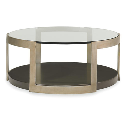 Agata Coffee Table, Forest/Pewter