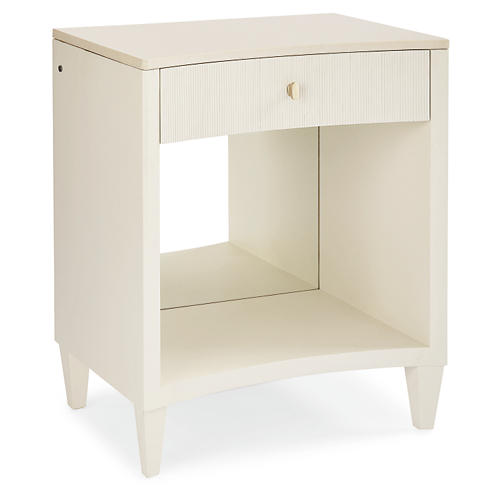 Flora Nightstand, Dove White
