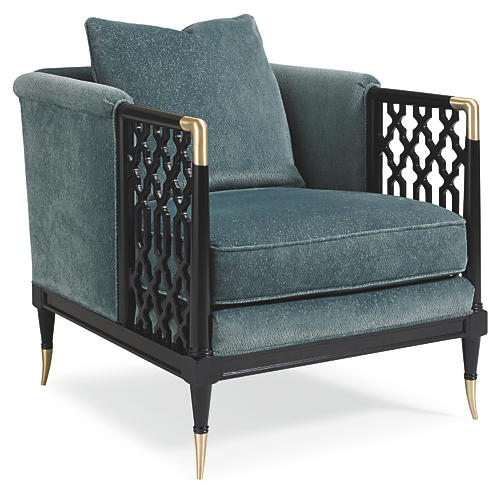 Lucio Club Chair, Teal