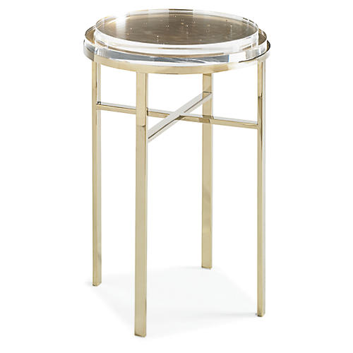 Sparkler Side Table, Gold Bullion