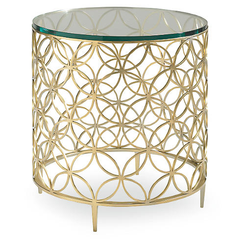 Cortland Side Table, Soft Gold