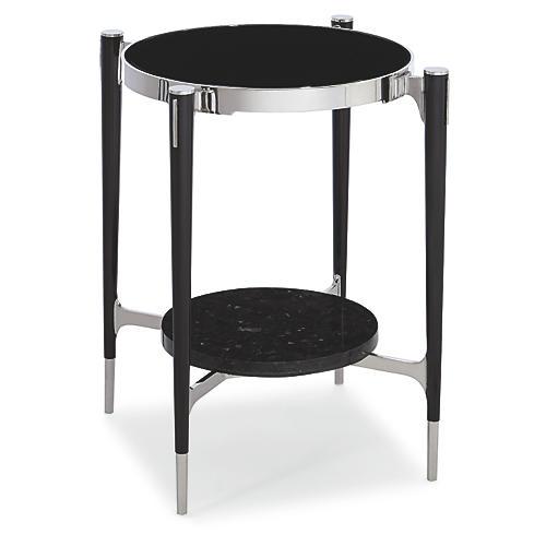 Portal Side Table, Tuxedo Black
