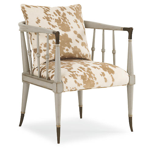 Easton Accent Chair, Moon Gray