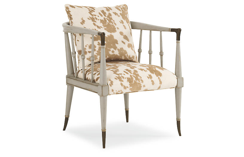 Easton Accent Chair - Moon Gray - Caracole