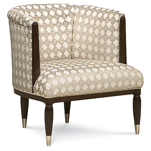 Geometric Barrel Chair, Neutral