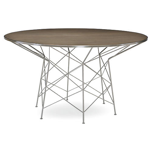 "High Rise 54"" Dining Table, Metro Brown"