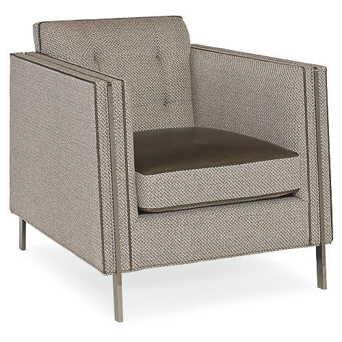 Henley Culb Chair, Soft Gray