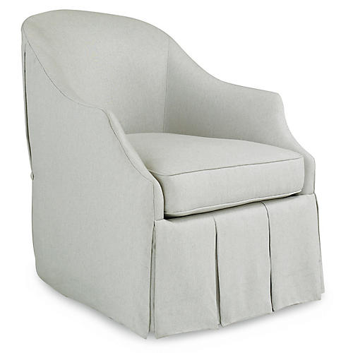 Swing Club Chair, Pale Gray