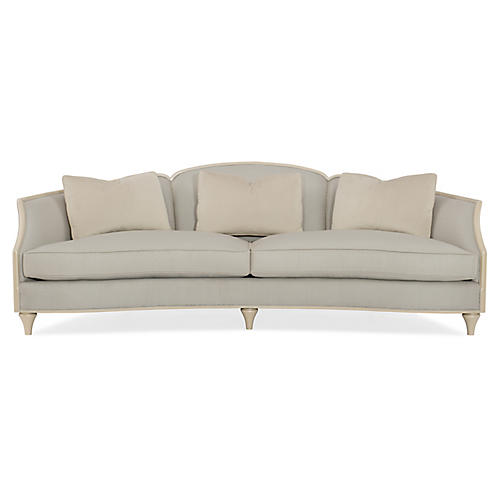 Curves Sofa, Pale Blue