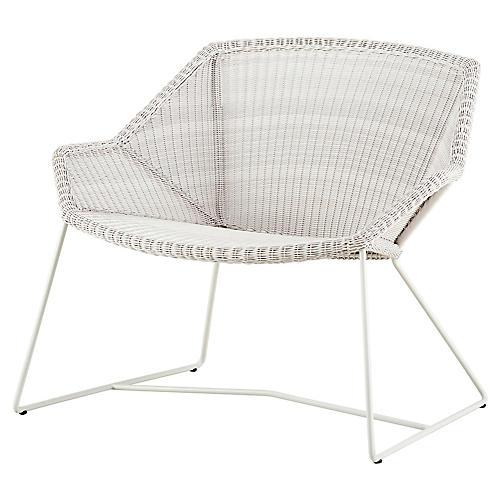 Breeze Club Chair, White
