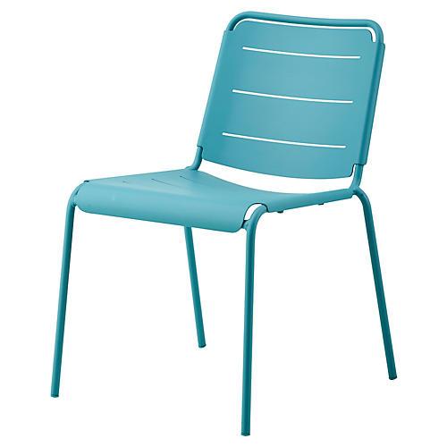 Copenhagen Side Chair, Aqua
