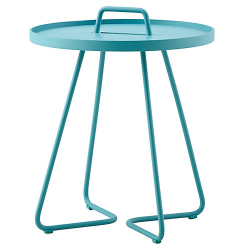 On-The-Move Side Table, Aqua