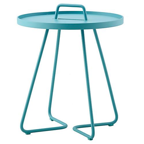 On-The-Move Side Table, Aqua