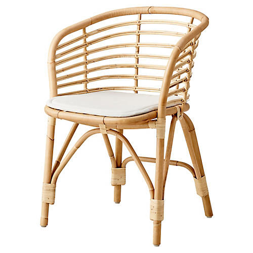 Blend Armchair, Natural/White Sunbrella