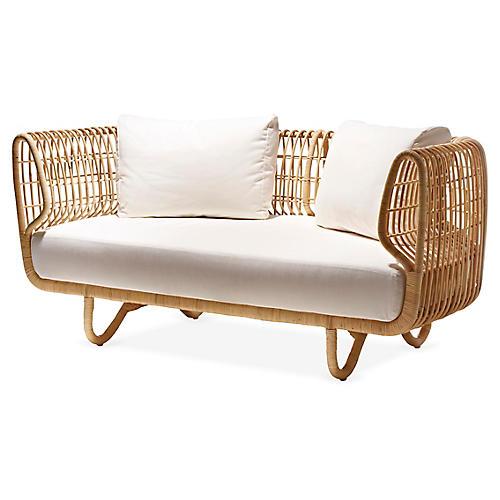 Nest Sofa, White Sunbrella