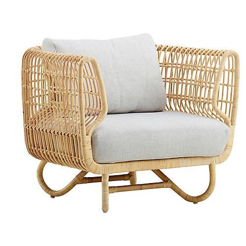 Nest Club Chair, White