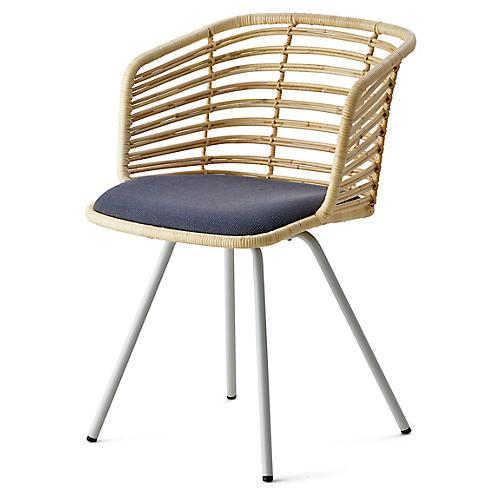 Spin Armchair, Gray Sunbrella
