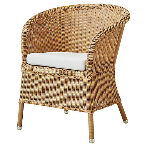 Derby Armchair, White