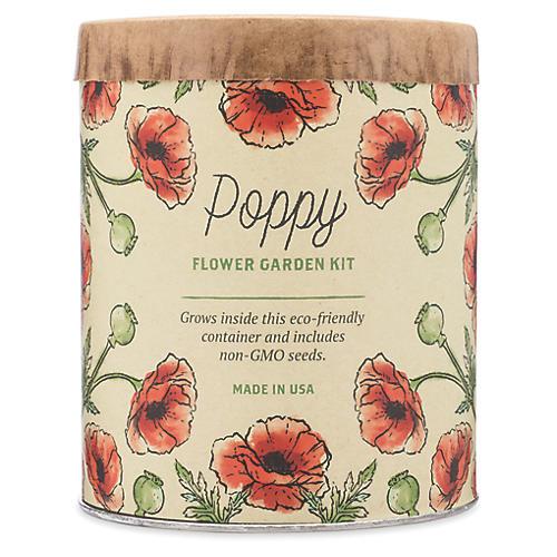 Waxed Planter Grow Kit, Poppy