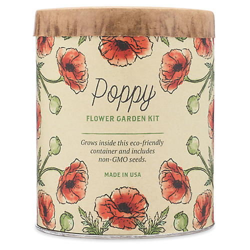 Waxed Planter Grow Kit, Poppy
