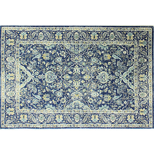 Payton Rug, Dark Blue/Yellow