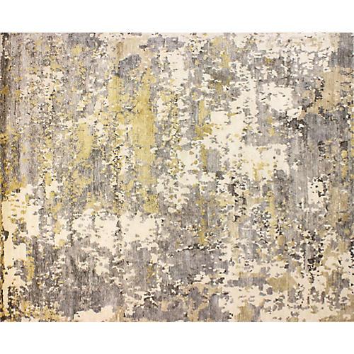 Texa Hand-Knotted Rug, Ivory/Gray