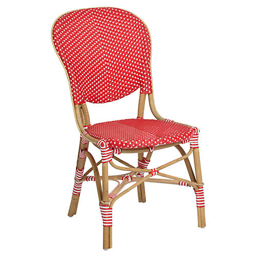 Isabell Bistro Side Chair, Red