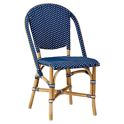 Sofie Bistro Side Chair, Navy