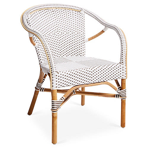 Madeleine Armchair, White/Cappuccino