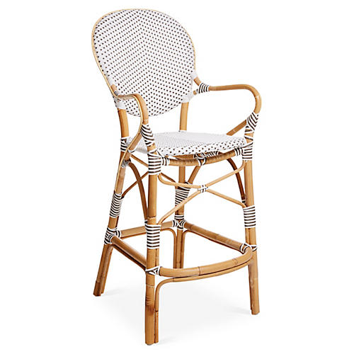 Isabell Barstool, White/Cappuccino