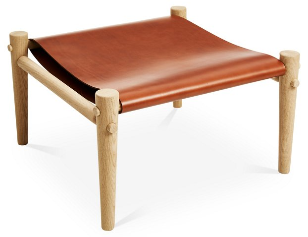Toulouse Footstool, Whiskey Leather - Temps Libre - Brands | One ...