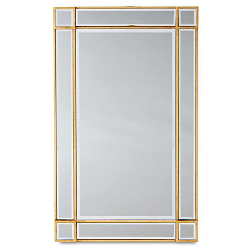 Inlay Frame Mirror, Gold/Clear