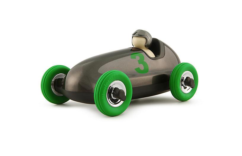 Bruno Roadster Toy, Gunmetal Gray/Green