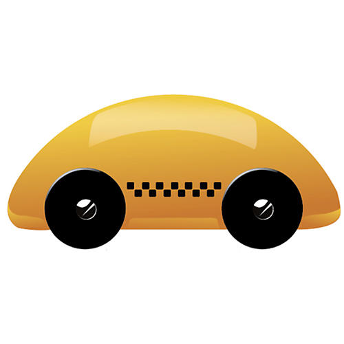 Streamliner Taxi Toy, Yellow/Black