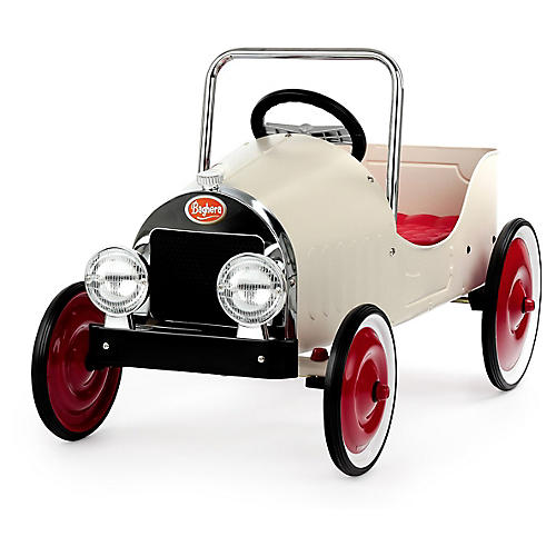 Pedal Toy Car, White