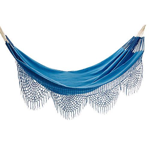 macondo hammock blue handcrafted colombian hammocks   one king u0027s lane   one kings lane  rh   onekingslane