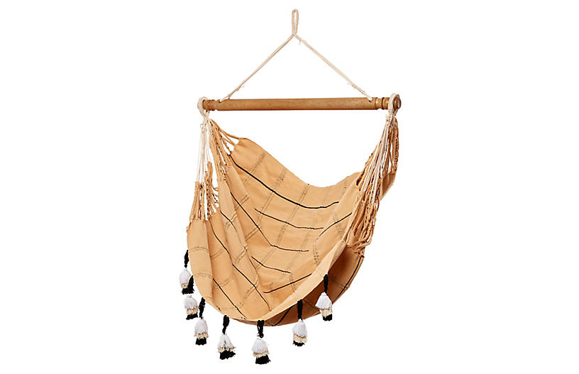 Macramé Hammock Chair, Natural