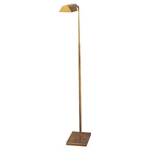 Library Adjustable Floor Lamp, Brass