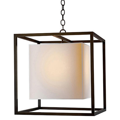 Caged Lantern, Bronze