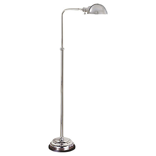 Apothecary Floor Lamp, Polished Nickel