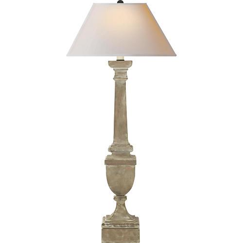 Gustavian Buffet Lamp, Belgian White