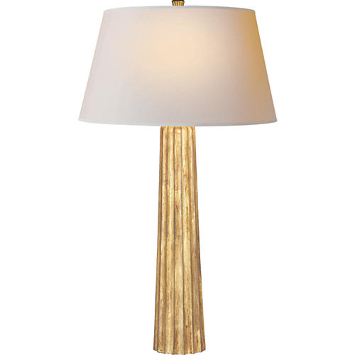 Large Fluted Spire Table Lamp, Iron