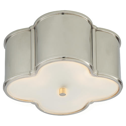Basil Flush Mount, Nickel