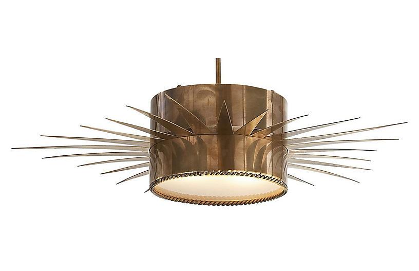 Soleil Pendant, Antiqued Brass