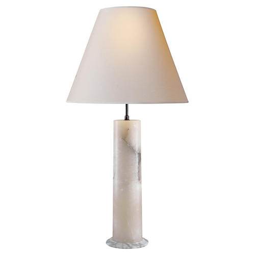London Column Lamp, Alabaster