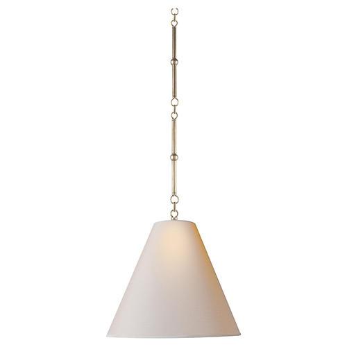 Small Goodman Hanging Light, Nickel