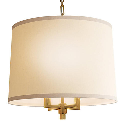 Westport Chandelier, Soft Brass